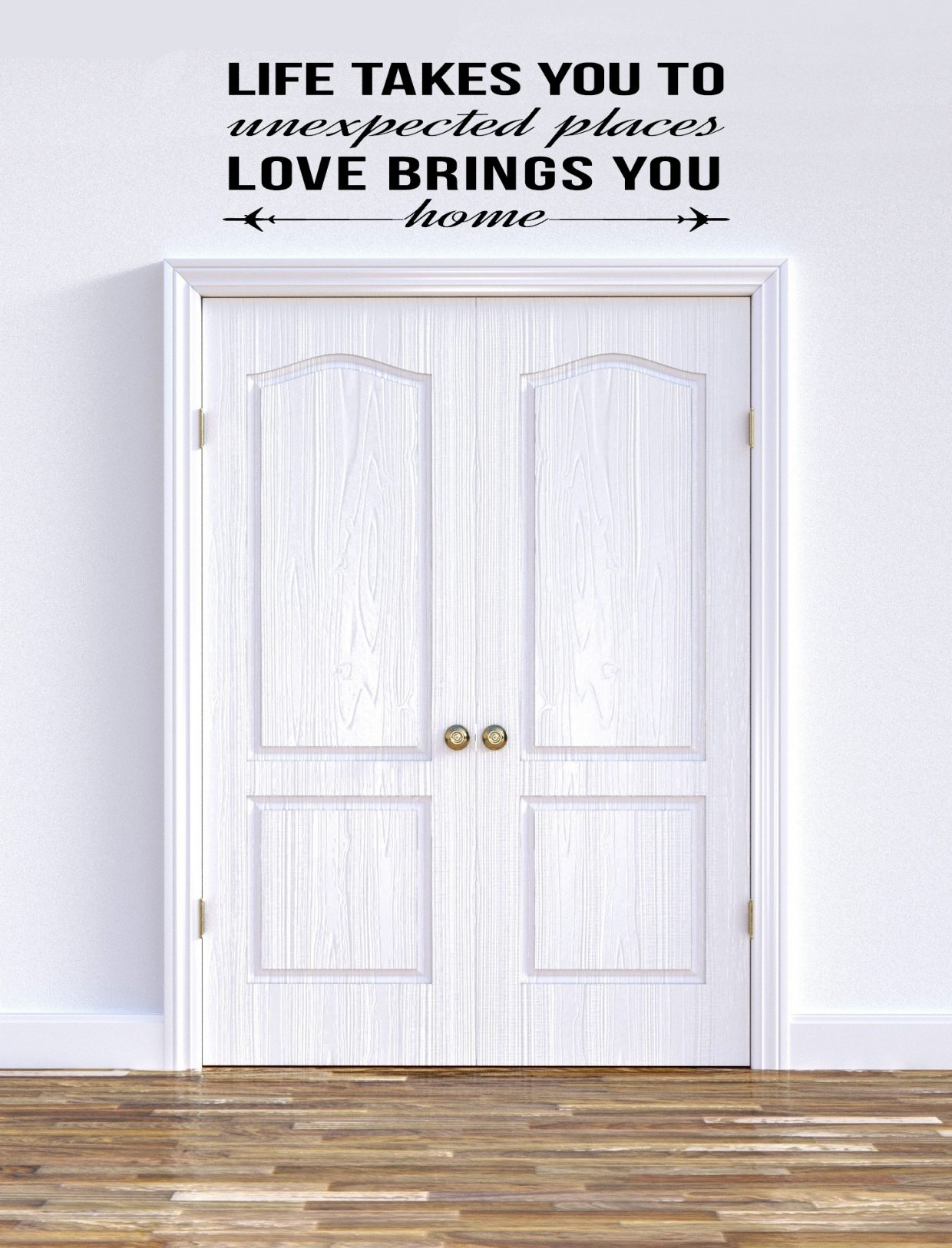 Love Brings You Home Family Wall Decal