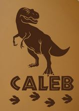 Dinosaur Custom Name Wall Decal