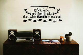 Rifles, Racks and Deer Tracks: Custom Name